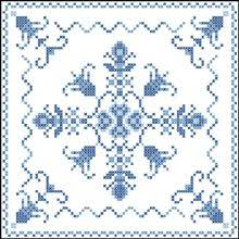 ROSE HEARTS Dimensions stamped embroidery linens QUILT BLOCKS RARE ... & Indigo Fantasy Quilt Blocks Adamdwight.com