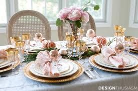 elegant table settings. Elegant Christmas Table Setting In Pink And Gold | Designthusiasm.com Settings S