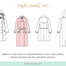 Trench Coat Pattern Gorgeous BUNDLE The Taylor Trench A Trench Coat Sewing Pattern