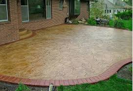 cover concrete patio ideas inspirational stamped and stained