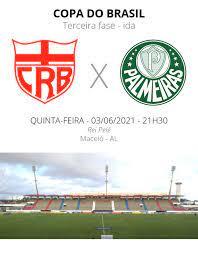 CRB x Palmeiras: veja onde assistir, escalações, desfalques e arbitragem |  copa do brasil