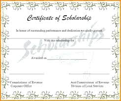 Scholarship Certificate Template Memorial Scholarship Certificate Template Scholarships Award