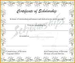 memorial scholarship certificate template scholarships award