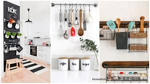 emphasize small spaces with kitchen wall storage ideas