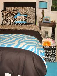 Dorm Bedding Decor Aqua Txl Zebra Dorm Room Bedding And Decor Decor 2 Ur Door