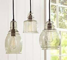 pendant glass lighting. Pendant Lights Over Peninsula Glass Lighting