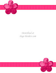 Paper With Flower Border Free Flower Border Template Personal Commercial Use
