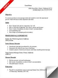 Massage Therapist Resume Sample Resume Pinterest