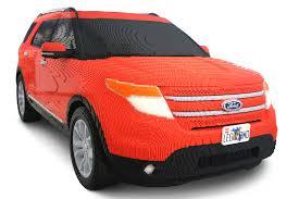 Real Life Lego House Ford Uses 380000 Lego Bricks To Build Life Size Explorer Model