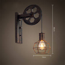 pulley lighting. loft industrial retro wall lamp single head lifting pulley light fixture 7262hc lighting