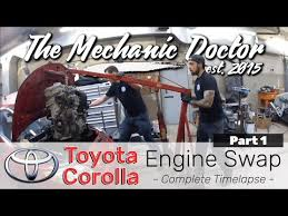 Engine Compatibility Chart Toyota Toyota Corolla Engine Swap Part 1 A Day In The Life Of An