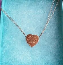 tiffany rubedo heart charm pendant and silver 925 necklace l 41 cm limited edition