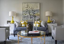 Yellow And Blue Living Room  Contemporary  Living Room  Tobi Silver And Blue Living Room