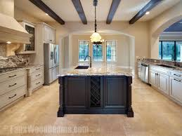 faux ceiling beams diy kitchen with style beams arranged in a simple parallel pattern faux wood