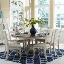 Hillsdale Dining Table Hillsdale Pine Island 7 Piece Round Dining Set With Ladder Back