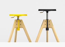 contemporary stool  solid wood  ash  adjustableheight  pico
