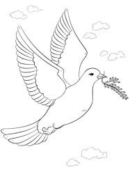 Vredesduif Met Olijftak Kleurplaat Gratis Kleurplaten Printen