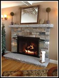 marvelous electric fireplace surround ideas diy faux stone for rock concept and wall trends pre lit