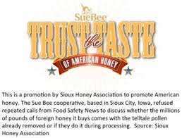 food safety news sue bee honey ad jpg