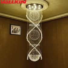 Us 41352 31 Offmoderne Kristall Kronleuchter Anhänger Doppel Spirale Superdichten K9 Kronleuchter Kristall Treppen Lampe Hotel Villa Kristall