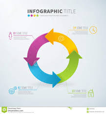Business Infographic Circle Arrow Chart Statistics With
