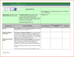 Agenda List Rolling Action Item List Excel Template Meeting Agenda