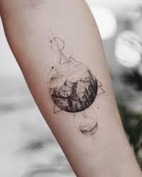 татуировка горы и геометрия идеи для татуировок татуировка на
