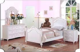 Girls White Bedroom 3 Piece Girl Bedroom Furniture With Pink Bedroom ...