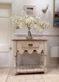 cream console table. Furniture:Cream Console Table Rustic Pine Sideboard Hall Open Dresser Base Appealing With Drawers Baskets Cream