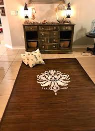 bamboo rug learn how to stain and stencil a bamboo rug using the brocade stencil a bamboo rug