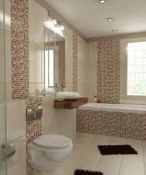 Modernes Badezimmer En Suie In Der Beige Stockfoto Bild Von Luxus