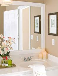 Bathroom Big Mirrors White Framed Bathroom Mirrors Mirrors Pinterest Frame