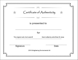 Certificate Of Authenticity Template Custom Certificate Of Completion Template Printabl Certificate Authenticity