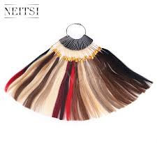 Neitsi Human Hair Rings Color Charts For Human Hair Extensions Salon Dyeing Sample Can Be Dyed Fast Shipping Handmade Hair Accessories Butterfly
