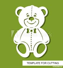 Cut Out Character Template Silhouette Of Cute Teddy Bear Decor For Childrens Room