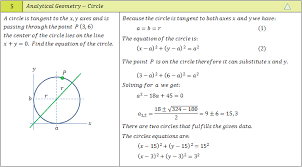 circle radius and two points