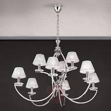 9 bulb chandelier avala in glossy nickel 7255238 01