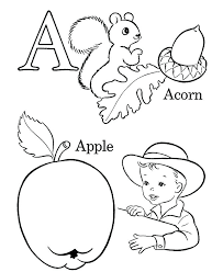 Letter A Coloring Pages For Toddlers Coloring Pages For Kindergarten