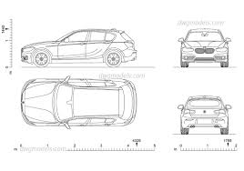 Coupe Series bmw 1 series tech specs : BMW 1 Series 2D DWG model download, AutoCAD file, dimensions