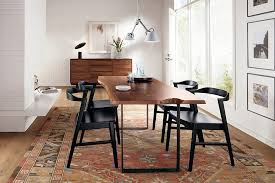 rug adds warmth and color to the dining room design room board