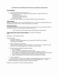 Recommendation Letter Template Medical Residency C 2018
