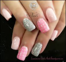 Pink Glitter Nail Designs 2015