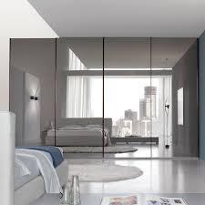 image mirror sliding closet doors inspired. Bedroom, : Inspiring Large Master Bedroom With Mirrored Sliding Door Closet Design And Gray Interior Image Mirror Doors Inspired D