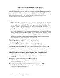 telecommuting and remote work policy human resources letters telecommuting and remote work policy