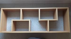 wooden shelf wall mounted shelving unit display ornaments shelves floating retro wall mounted shelving units o67