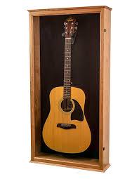 cherry acoustic guitar case black felt back