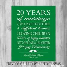 20th anniversary gift 20 year anniversary gift canvas print gift for pas personalized gift anniversary gift for wife gift for husband