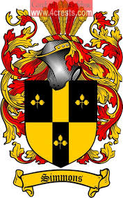 simmons family crest. simmons coat of arms / family crest n