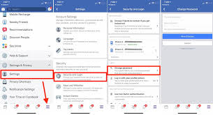 Change Facebook Password On Iphone Ios How To