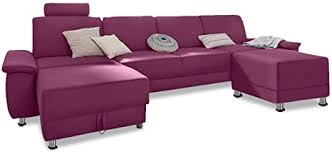 Sofa Couch Wohnlandschaft Monique - Pink: Amazon.de: Küche & Haushalt
